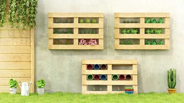 Simple Wooden Garden Planter Ideas Photo