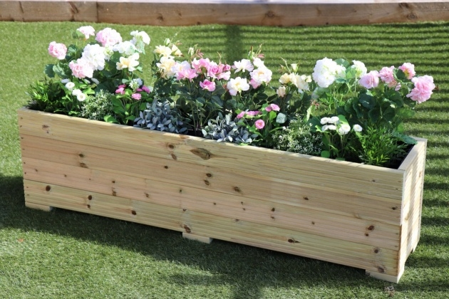 Simple Wooden Garden Planters Picture