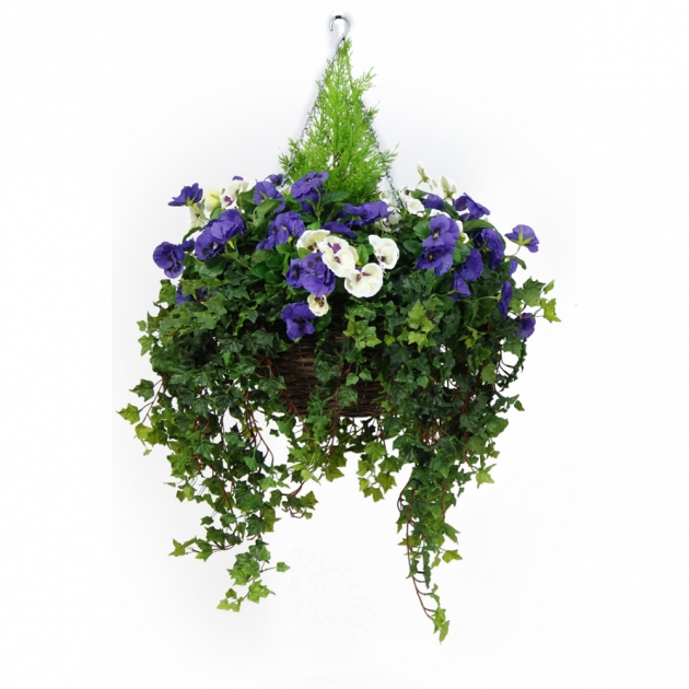Stunning Artificial Pansy Hanging Basket Picture