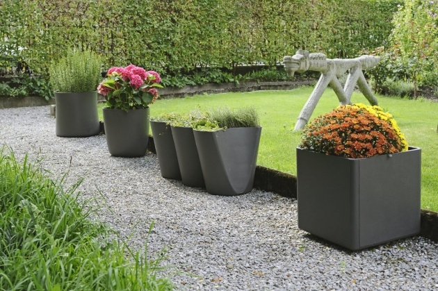 Stunning Modern Outdoor Pots And Planters Picture