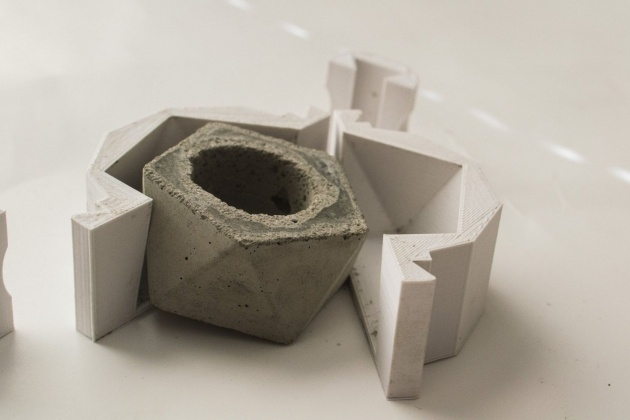Stylish Cement Planter Molds Photo