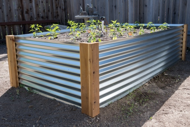 Stylish Corrugated Metal Planters Picture