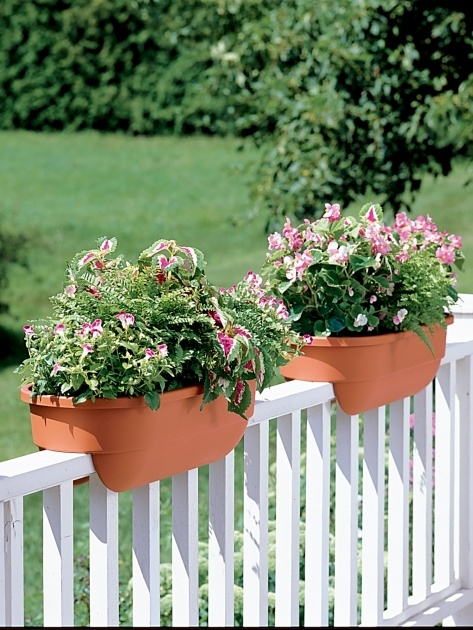 Stylish Fence Flower Planters Picture