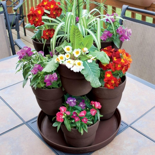 Stylish Flower Tower Planter Image