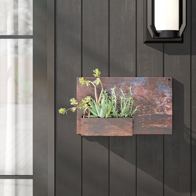 Stylish Metal Wall Planters Photo