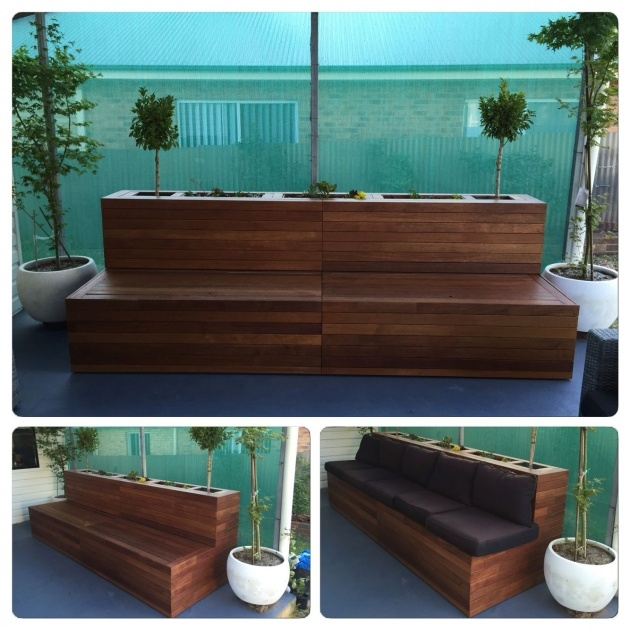 Stylish Planter Box Seat Photo