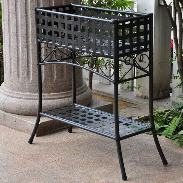 Stylish Planter Box Stands Outdoor Image