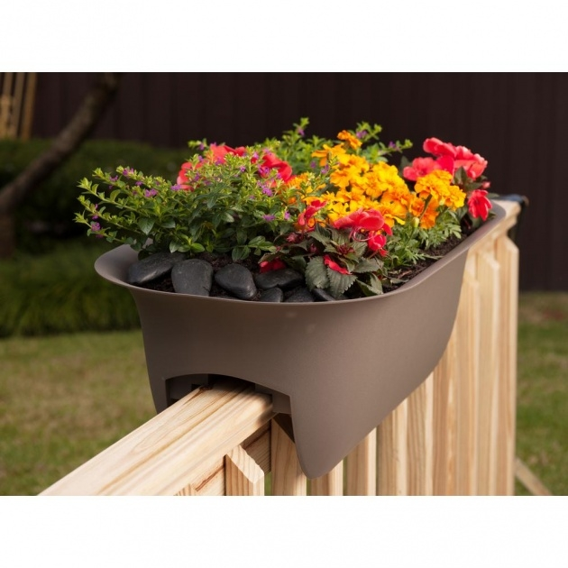 Stylish Railing Planters Image