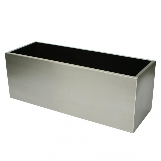 Stylish Rectangular Metal Planter Box Photo