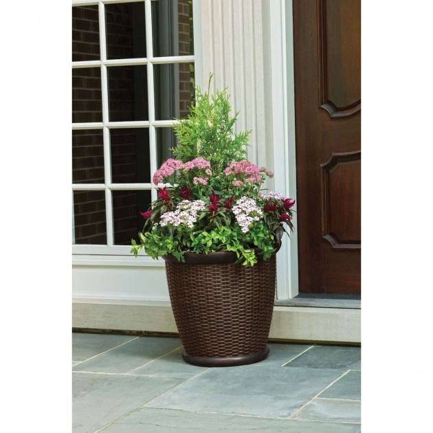 Stylish Resin Wicker Planters Image