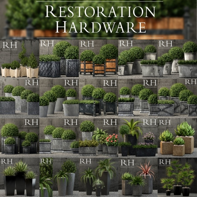 Stylish Restoration Hardware Planters Image