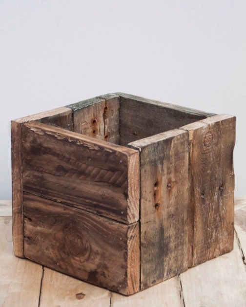 Stylish Rustic Wooden Planters Photo