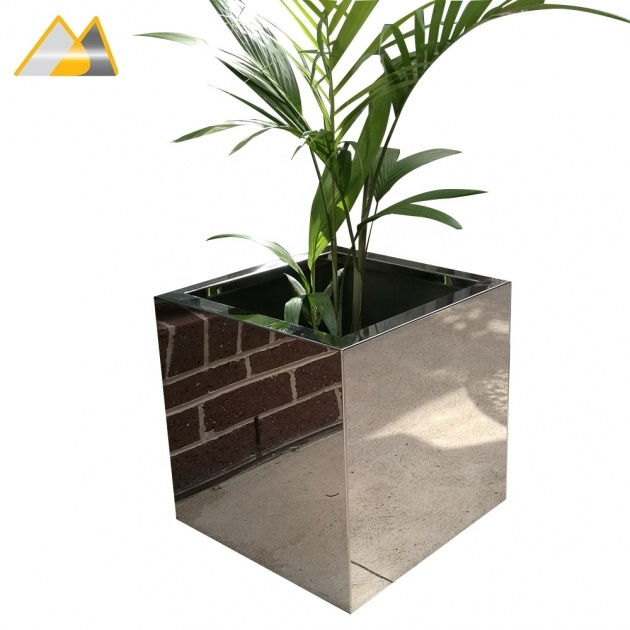 Stylish Stainless Steel Plant Pots Image