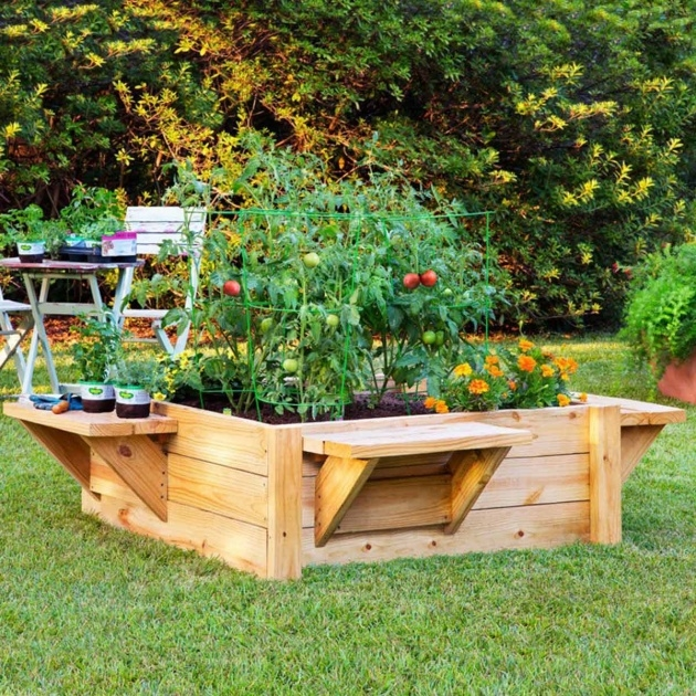 Stylish Wooden Garden Planters Photo