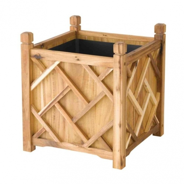 Stylish Wooden Planter Box Picture