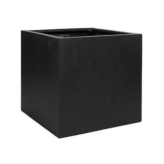 Super Cool Black Square Planter Image