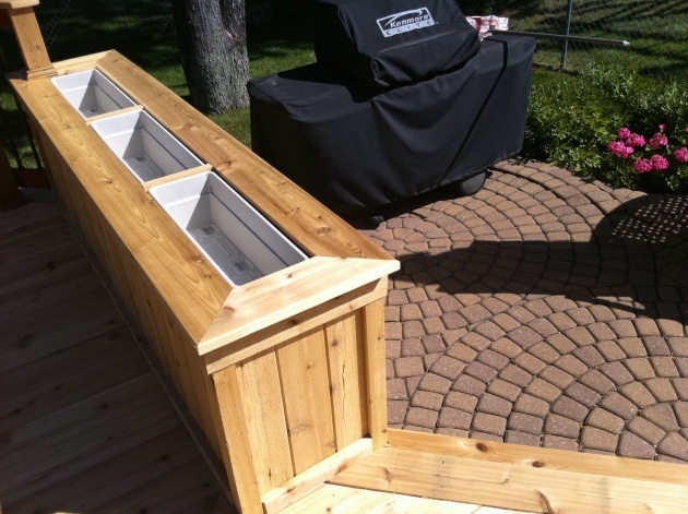 Super Cool Deck Planter Boxes Photo