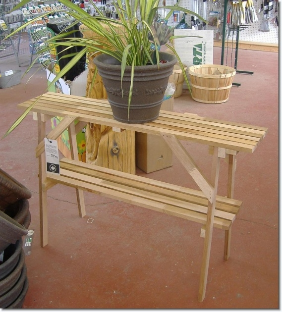 Super Cool Outdoor Plant Table Picture
