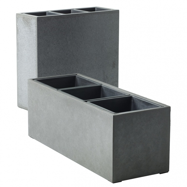 Super Cool Rectangular Concrete Planters Image