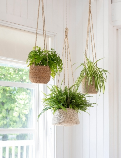 Super Cool Woven Hanging Planter Photo