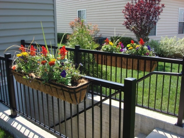 Surprising Balcony Railing Planter Photo