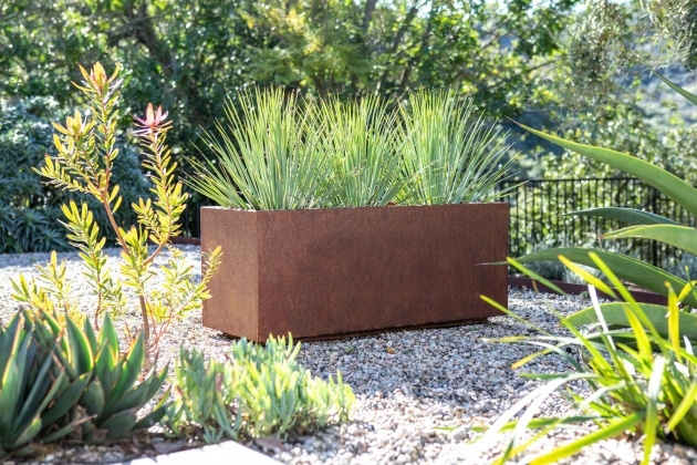 Surprising Corten Steel Planters Picture