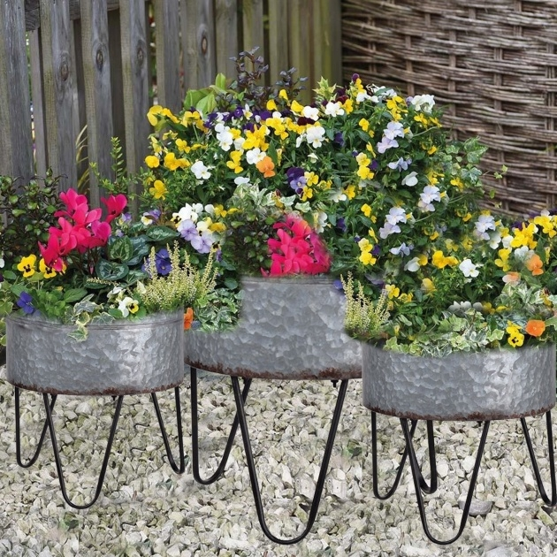 Surprising Galvanized Tub Planter Photo