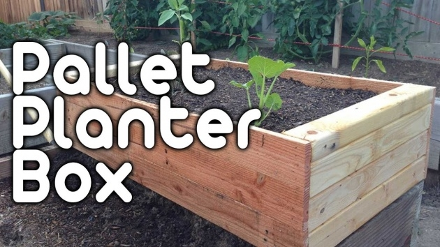 Surprising How To Make A Planter Box Out Of Pallets Photo