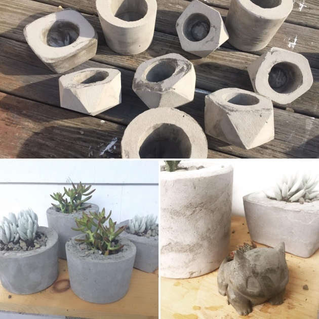 Surprising Making Concrete Planters Image