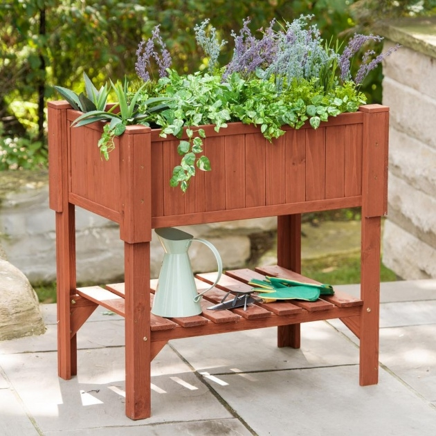 Surprising Raised Bed Planter Image