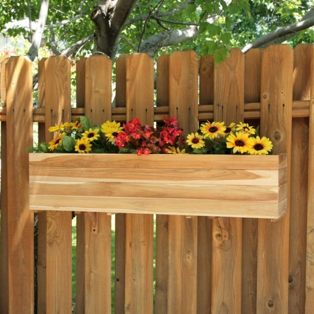 Top Fence Planter Boxes Image