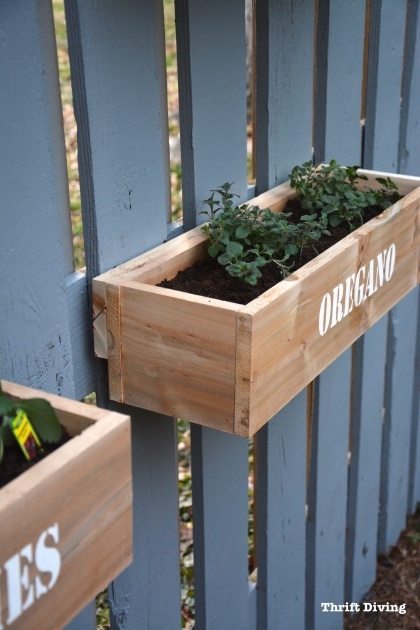 Top Fence Planter Boxes Picture