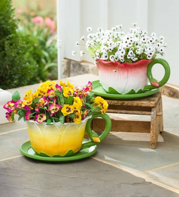 Top Tea Cup Planter Image