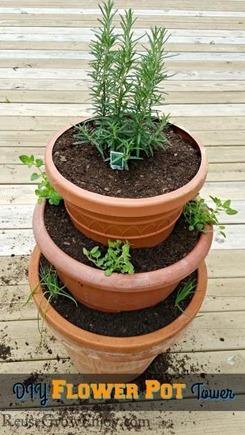 Top Tower Plant Pots Image