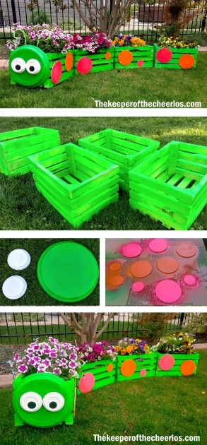 Top Wooden Crate Planter Picture