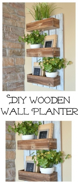 Top Wooden Wall Planter Photo