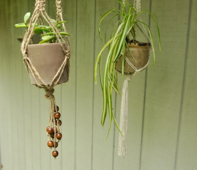 Wonderful Diy Rope Plant Hanger Picture