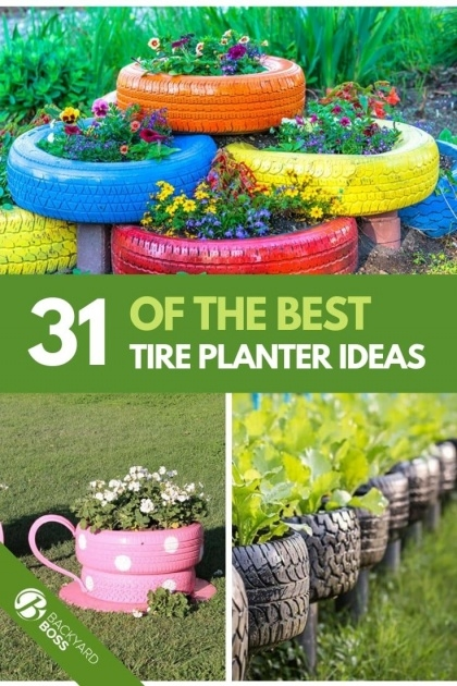 Wonderful Tire Planters Picture