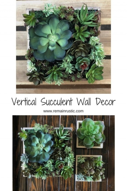 Wonderful Vertical Succulent Planter Picture