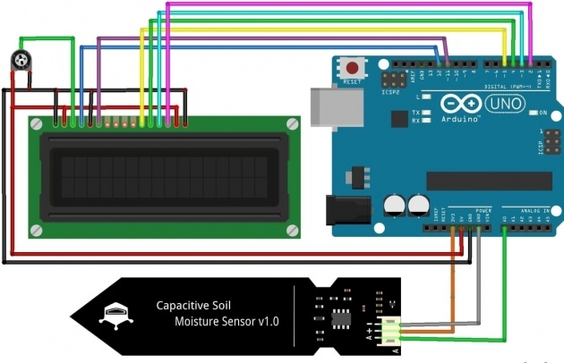 Amazingly Lcdsoil Moisture Sensor Inteeface With Arduino Ande Picture