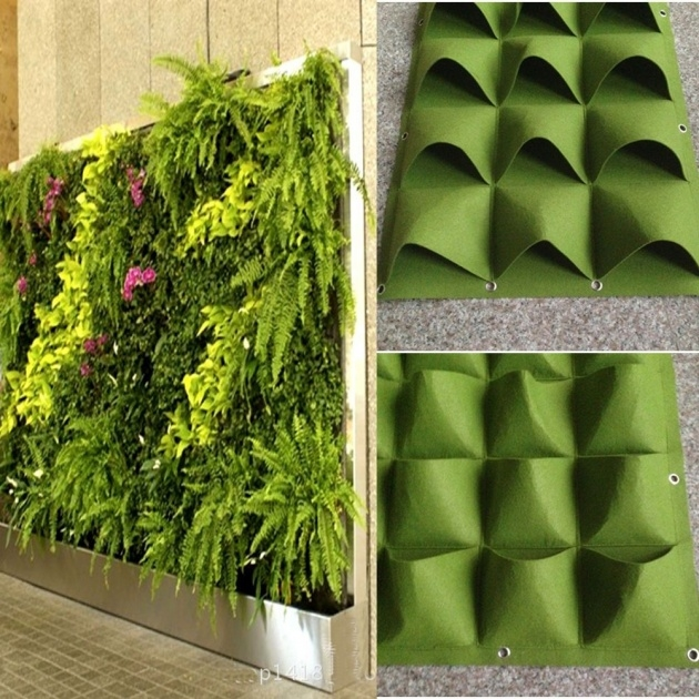 Amazingly Outdoor Living Wall Planters Photo