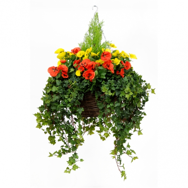 Best Artificial Pansy Hanging Basket Photo