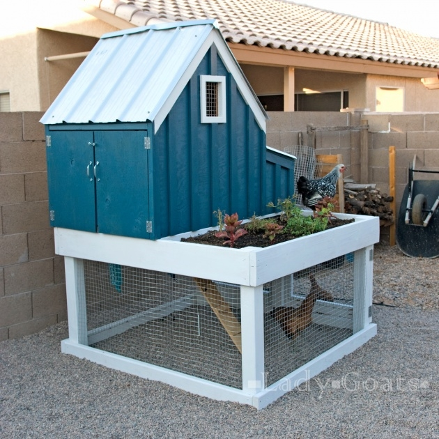 Best Cool Chicken Coop With Planter Picture