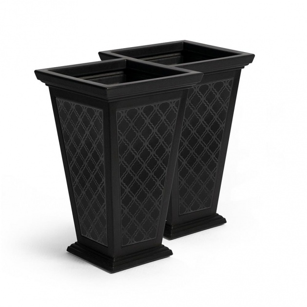 Best Tall Black Outdoor Planters Picture