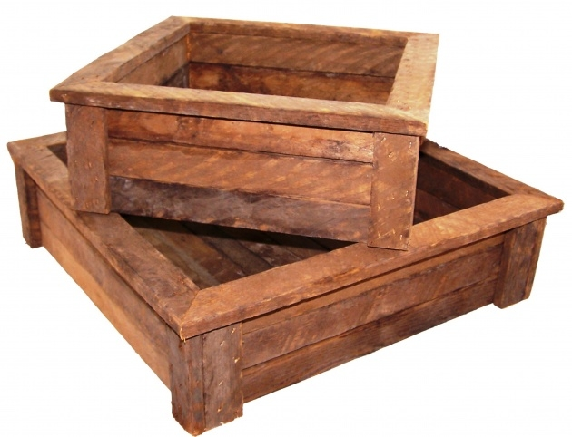 Cool Rustic Wooden Planters Picture