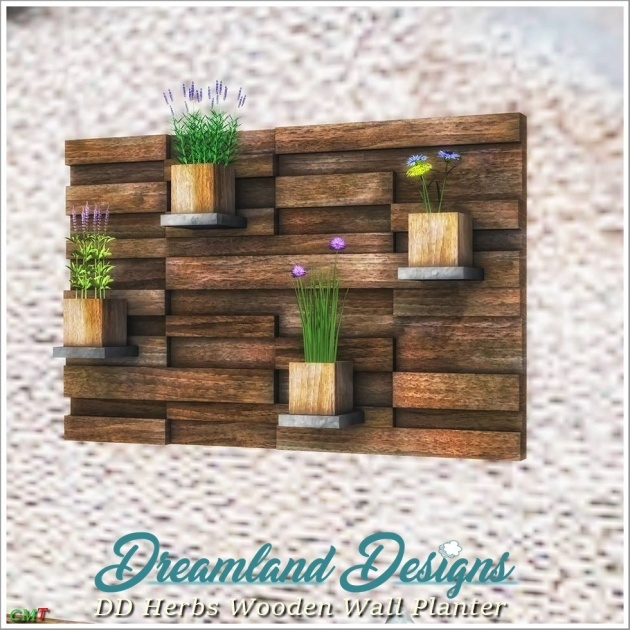 Creative Wooden Wall Planter Picture