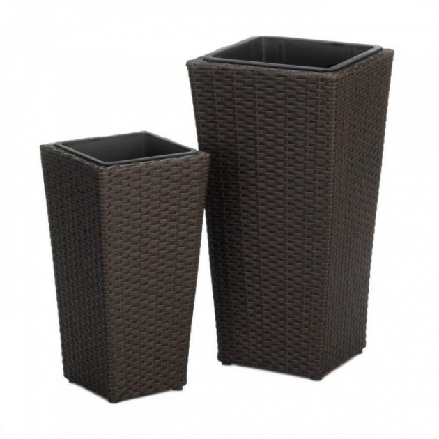 Easy Tall Black Outdoor Planters Image