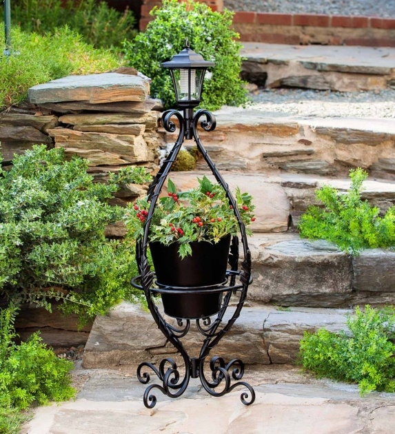 Easy Wrought Iron Plant Stands Outdoor Photo