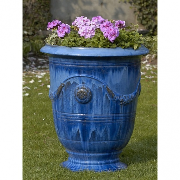 Fantastic Tall Ceramic Outdoor Planters And Urns Usa Image