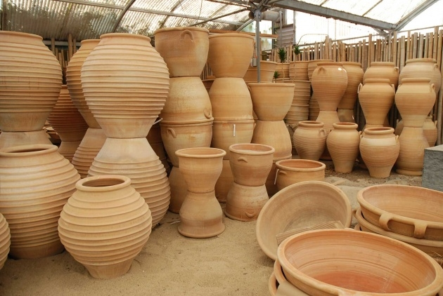 Fascinating Tall Ceramic Outdoor Planters And Urns Usa Photo